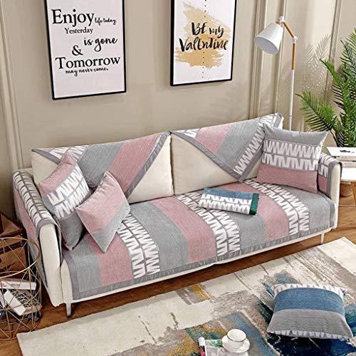 YAALO Antislip bankovertrek, Simple Modern Four Seasons algemene multifunctionele maat wasmachinebestendige bankhoes voor woonkamer sofa protector