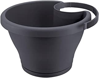 Plant container Drain Pipe Wall Hanging Flower Pot Simple Pipe Landscaping Decorations Kitchen Balcony Plastic Flower Pot 5 Colors Optional Plant dish (Color : Gray)