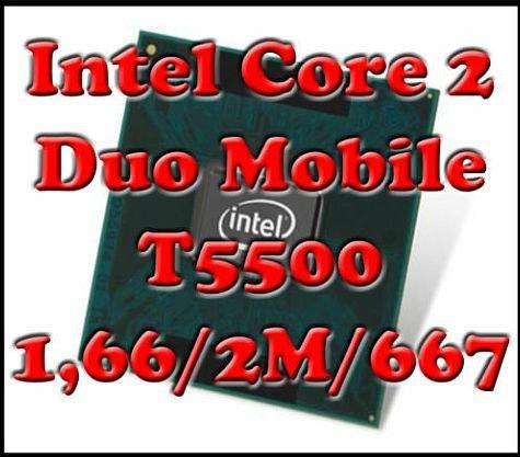 Intel Core 2 Duo Mobile T5500 1,66 GHz Sockel M Notebook CPU 1,66/2M/667 SL9SH