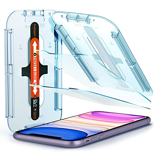 Spigen Glas.tR EZ Fit kompatibel mit iPhone 11, iPhone XR