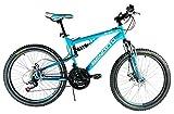 Benotto Bicicleta Montaña DSTONE R24 21V Shimano Doble Susp - Azul Sirena