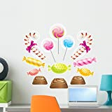 Wallmonkeys Sweet Yummy Candies Candy Wall Decal Sticker Set Peel and Stick Decals for Girls (24 in W x 21 in H) WM45758