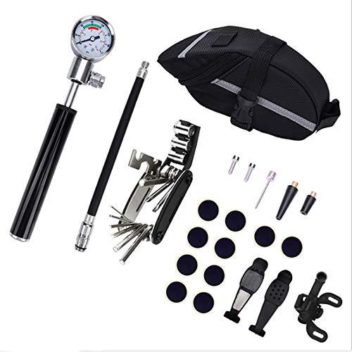 Tiamu Mountain Bike Bicycle Repair Kit Tool Bag Bicycle Saddle Bag Multi-Function Package Mountain Bike Tool Repair Tool