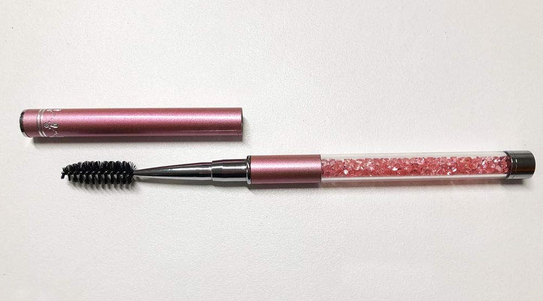 ラショナル芝生統計的ジュエリー アイラッシュブラシ ピンク メイクブラシ スクリューブラシ マツエク まつ毛エクステ つけまつ毛 まつげ ブラシ アイラッシュ
