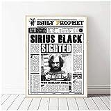 wzgsffs Daily Prophet Sirius Black Wall Art Print En Lienzo para El Cartel De La Sala De Estar Y Las Impresiones Decoración del Dormitorio del Hogar Regalo -20X28 Pulgadas X 1 Sin Marco