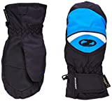 Ziener Jungen Handschuhe Lisbo GTX R Mitten Gloves Junior Kinderhandschuhe, Black/Persian Blue, 5.5