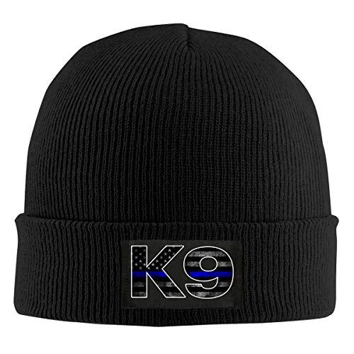 Police K9 Thin Blue Line Unisex Knitted Hat Fashion Warm Beanie Cap