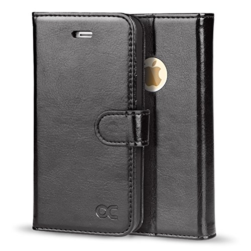 OCASE Wallet Case for iPhone SE 2016 Edition/iPhone 5S/ iPhone 5 [Card Slot] [Kickstand] Leather Wallet Flip Case for Old iPhone SE/5S/5 Devices - Black
