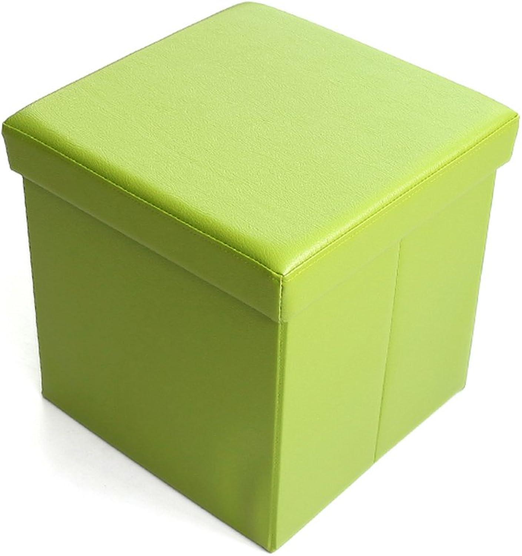 ZHANGRONG- Multi-Functional Stool Storage Stool Sofa Stool Folding Stool Square for shoes Stool Sofa Stool (color Optional) (color   B)