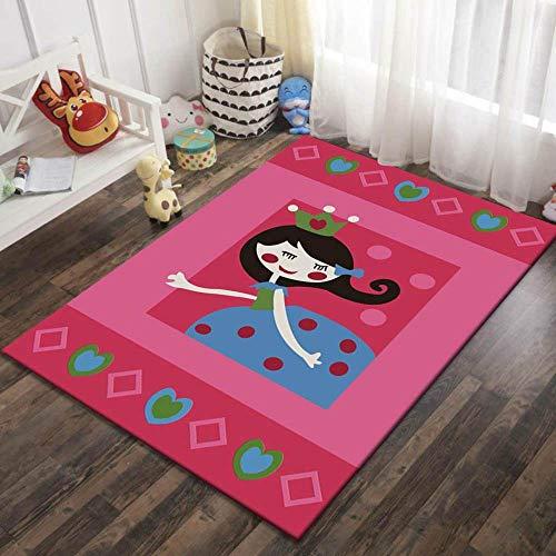 Alfombras,Impresos En 3D Moderno Cartoon Falda Azul Chica Suave Terciopelo Cachorro Kids Alfombra Alfombra Para La Habitación De Los Niños Antideslizante Rastreo Antiincrustantes Cartoon Alfombra Al