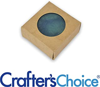 50 Crafter's Choice Kraft Square with Round Window Soap Box - Homemade Soap Packaging - Soap Making Supplies - 100% Recycled Materials - Made in USA! - 50 Pack