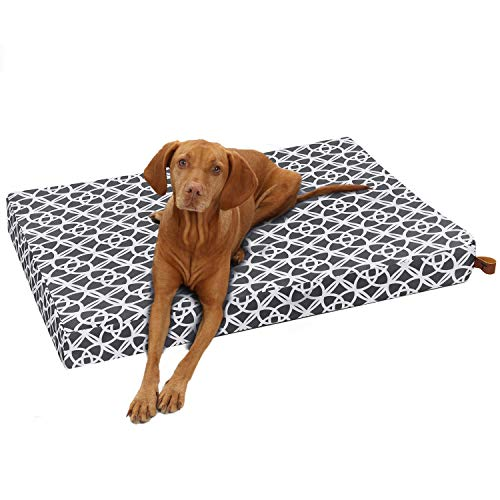 Tempcore Large Dog Bed (M/L/XL) for Small, Medium, Large Dogs Up to 50/80/110lbs -Waterproof Dog Bed with Removable Washable Cover - Orthopedic Egg Crate Foam Water Resistant Pet Mat