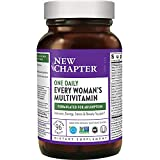 New Chapter Women's Multivitamin + Immune, Energy & Stress Support – Every Woman's One Daily with Fermented Probiotics & Whole Foods + Vitamin D3 + Biotin + Organic Non-GMO ingredients- 96 ct