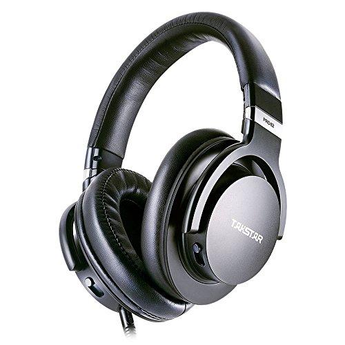 Takstar PRO82 Profesional Referencia Monitor Auricular Bajo Ajuste Dinámico Estudio DJ Auriculares Sobre la oreja (negro)