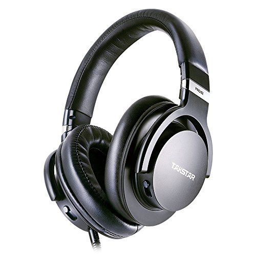 Takstar PRO82 Professional Reference Monitor Headphone Bass Adjustment Dynamic Studio DJ Headset Over Ear(Black)