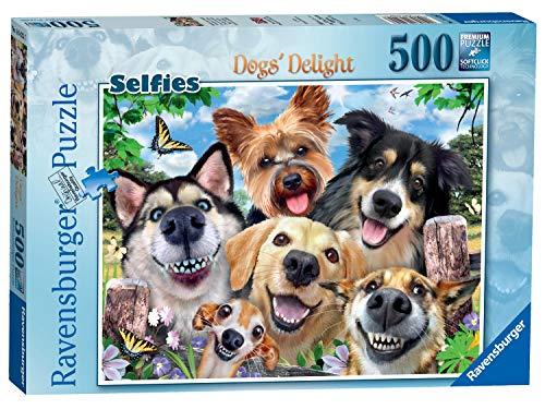 Ravensburger 164257 Puzzel Vrolijke Honden - Legpuzzel - 500 Stukjes