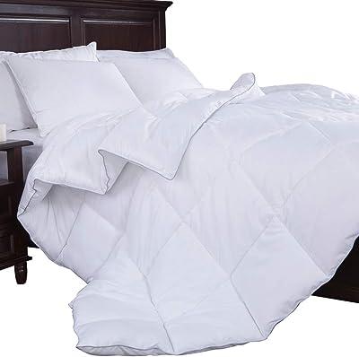 UNIKOME puredown Alternative Comforter, Twin, White