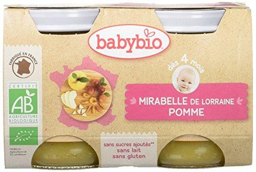 Babybio Pots Mirabelle de Lorraine Pomme d'Aquitaine 260 g - Lot de 6