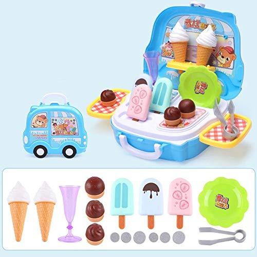 ACHICOO Kindergeschirr Kochset Tisch Rollenspiel Koffer Spielzeugset 605 Eiskoffer