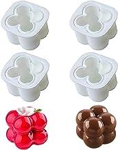 Tingz 4 stuks kaars mallen voor het maken van kaarsen DIY kaars mal-3D bal kubus siliconen kaars mallen,DIY kaarsen,orname...