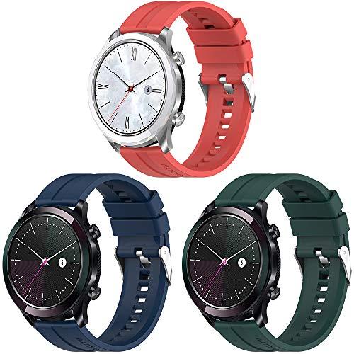 Songsier Armband Kompatibel mit Huawei Watch GT 2 42mm, 20mm Ersatz Uhr Armband für Huawei Watch GT Elegant/ Sport Edition/Classic Edition/Honor Watch Magic 2 42mm