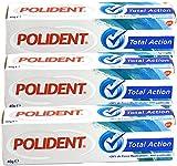 Polident - GSK Total Action - Crème adhésive pour prothèses dentaires - - Lot de 3 tubes de 40 Grammes