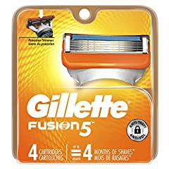 Gillette razors for men with 5 anti-friction blades. A shave you barely feel Men's razor with precision Trimmer on back-great for hard-to-reach areas and styling facial hair Lubrication strip fades when you are no longer getting an optimal shave 4 ra...