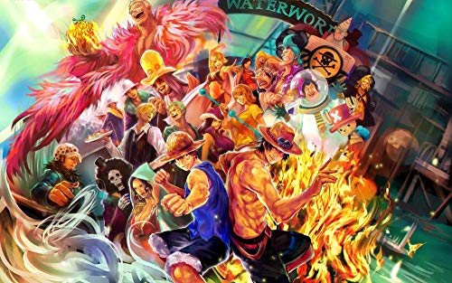 Slbtr [Últimas Noticias] DIY Lienzo Pintura - One Piece Man -Pintura por Numero Kits Decoración del Hogar 16*20 Pulgadas Regalos para Principiantes Amigos Y Niños En Pintura- Sin Marco