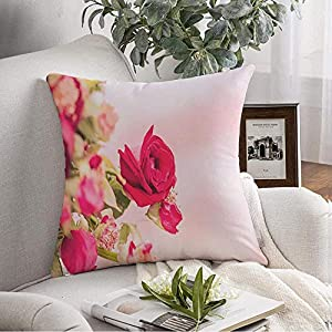 Staromil Throw Pillow Case Sand Red Memories Rose Love Pink Valentine On Beach Valentines Day Sympathy Flower Nature Textures Decorative Pillow Case Cover Home Decor Square Pillowcases 18×18 Inch