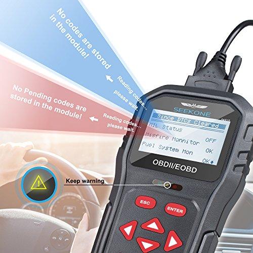 SEEKONE SK819 Universal Car Code Reader Professional Vehicle Tool OBD2 Scanner