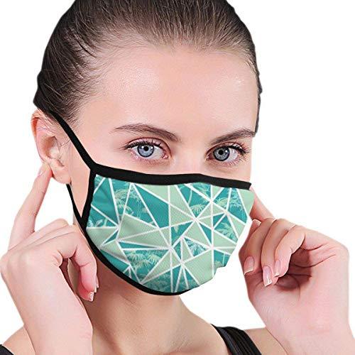 Maskers abstracte tropische palmen en driehoekige gezichtsmasker wind