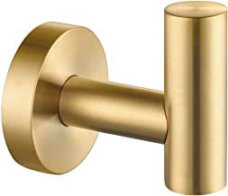 Robe Towel Hook, APLusee SUS 304 Stainless Steel Modern Home Storage Coat Hanger, Brushed Gold Wall Hook for Bath Toilet K...