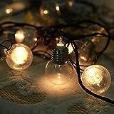 Cadena de luz de bombilla LED, luz de cadena de bombilla blanca cálida, para decoración del hogar de la fiesta de Edding del árbol de Navidad, accesorios de decoración(pink, European standard 220V)