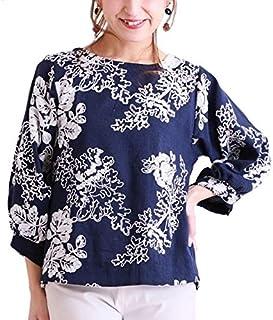 サワアラモード(sawa a la mode) 花 刺繍 広がる ゆったり 袖 トップス レディース