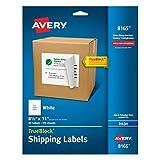 Avery Shipping Address Labels, Inkjet Printers, 25 Labels, Full Sheet Labels, Permanent Adhesive, TrueBlock (8165), White