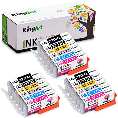 Kingjet Compatible Ink Cartridge Replacement for Canon PGI-270 CLI-271, 270XL 271XL for Pixma MG7720 TS8020 TS9020 Printer, 3 Sets High Yield with Gray (6 Color) New Mexico