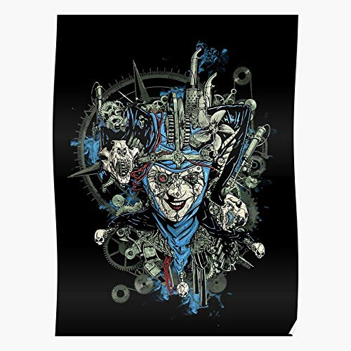 Comics Tattoo Joker Evil Fantasy Jester I Fsgayalamo - Impressive and Trendy Poster Print Decor Wall or Desk Mount Options
