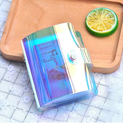 Hanks' Shop 3 PCS Durable Tragbare Hand Holding Wallet Phantom Laser Kreditkarte Paket Business ID-Speicher-Beutel, zufällige Farbe Lieferung (20 Cards) (Color : 20 Cards)