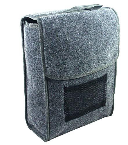 EUFAB 21024 Kofferraumtasche, Nadelfilz 27 x 14 x 28 cm, Farbe: grau, Klettverschluss