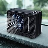 Ventilador de refrigeración de aire, portátil, de 12 V para coche, furgoneta y hogar, velocidad ajustable, silencioso