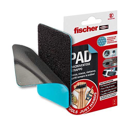 Fischer VACUUM PAD NTJH herbruikbaar en wasbaar met klittenband binnenzijde zonder resten Ideaal voor accessoires zoals smartphone, tablet, WiFi, afstandsbedieningen, 1 stuk, 55217