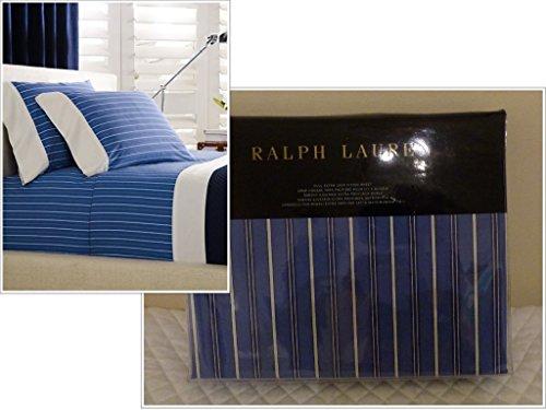 Lauren Ralph Off Sunset Cambridge Stripe Full 100% Cotton Extra Deep Fitted Sheet