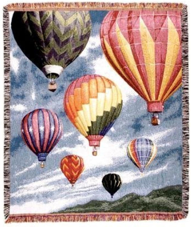 Vuelta de 10 dias Hot Hot Hot Air Balloons Floating in Sky Tapestry Throw Blanket 50  x 70  by Simply Home  ordene ahora los precios más bajos