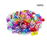 100 PCS Multipurpose Sewing Clips in Different Colours Perfect for Sew Binding,Crafts,Paper Work and Hanging Little Things