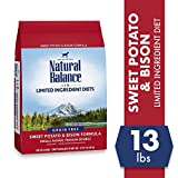 Natural Balance L.I.D. Limited Ingredient Diets Dry Dog Food, Sweet Potato & Bison Formula, 13 Pounds, Grain Free