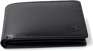 Fa.Volmer  Praktische Schwarze Ledergeldbörse aus glattem Leder mit RFID-Schutz #SQ15111