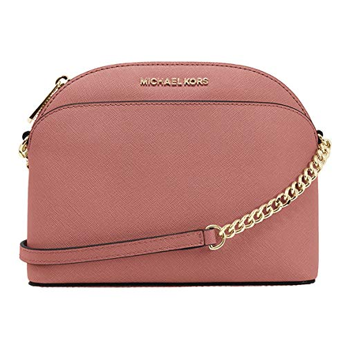 "Saffiano leather Gold-tone hardware Top-zip closure 8.5""(L) X 6.5""(H) X 3.5""(D), adjustable strap for crossbody with 22-24"" Drop Interior 1 zip & 1 slip pocket"