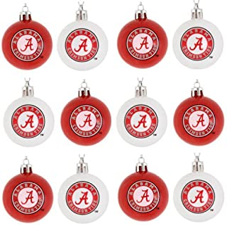 Forever Collectibles NCAA College Plastic Ball Holiday Tree Ornament Set (12 Pack) - Pick Team