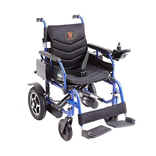 WFSH Silla de Ruedas, Aleación de Aluminio Silla de Ruedas Eléctrica, Discapacitados Plegable Portátil de Ancianos Vespa, Carga 100Kg jkhjghfghgrf