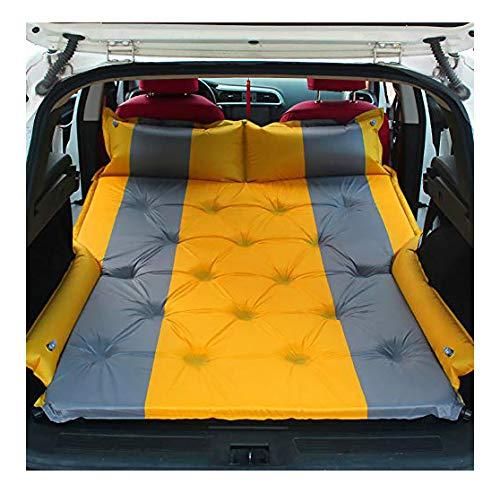 FZ FUTURE Maleta de colchón Inflable del colchón Inflable de la inflación del SUV - colchón de Autos, Minivan, Hatchback, Tienda de campamentos,Amarillo